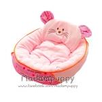 ที่นอนน้องหมา เบาะนอนรูปแมว สีชมพู ไซส์ L