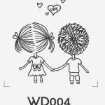 ตราปั๊มงานแต่ง WD004
