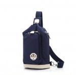 พร้อมส่ง สีน้ำเงิน กระเป๋าคาดอก ผ้าแคนวาส แต่งด้วยสีขาว ตัดกับสีน้ำเงินเท่ห์ๆ เปิดด้านข้าง ใบใหญ่ ใส่ ipad mini ได้