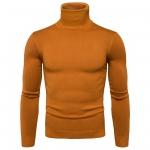 พร้อมส่ง เสื้อไหมพรมผู้ชาย สีส้มอิฐ คอเต่า แขนยาว สเวตเตอร์ผู้ชาย แฟชั่นหน้าหนาว