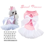 PRE ชุดกระโปรงหมา Sweet Princess สีชมพู