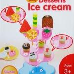 ชุดขายไอศครีมเด็ก Dessert Ice Cream ส่งฟรี