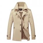 พร้อมส่ง เสื้อแจ็คเก็ตผู้ชาย สีครีม ออกแบบเท่ห์ ใส่กันหนาว ใส่คลุมได้