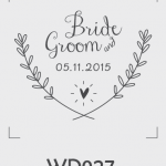 ตราปั๊มงานแต่ง WD027