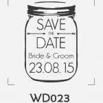 ตราปั๊มงานแต่ง WD023
