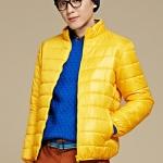 พรีออร์เดอร์ เสื้อกันหนาว สีเหลือง ผู้ชาย ทรงบับเบิ้ล แขนยาวจั๊ม ซิปหน้า ผ้ากันน้ำ ใส่กันหนาว ใส่กันลม ใส่ไปต่างประเทศได้
