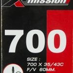 ยางใน X-Mission 700x35/43c FV60 จุ๊บเล็ก