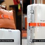 สายรัดกระเป๋าเดินทางแบบยางยืด 2 way Luggage Belt ตัวช่วยขนสัมภาระ