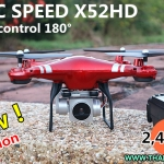 MAGIC SPEED X52HD wifi Drone+ปรับกล้อง+HD