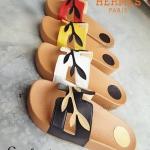 รองเท้าแฟชั่น สไตล์ HERMES รองเท้าแตะแบบสวมพื้นนิ่มใส่สบาย