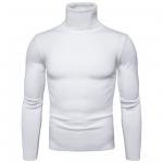 พร้อมส่ง เสื้อไหมพรมผู้ชาย สีขาว คอเต่า แขนยาว สเวตเตอร์ผู้ชาย แฟชั่นหน้าหนาว