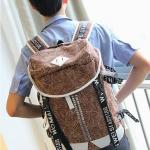 พร้อมส่ง กระเป๋าเป้ สีน้ำตาล ใบใหญ่ มีช่องเก็บของเยอะ จุของได้เยอะ