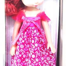ตุ๊กตาเจ้าหญิงผมแดง มีเสียง มีไฟ ขนาด 45 ซม. (1x2)