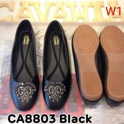 รองเท้าคัทชูส้นเตี้ยแต่งอะไหล่ด้านหน้า แบรนด์ cavawia