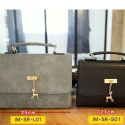 กระเป๋านำเข้า แบรนด์ Sen Ran ของแท้ 100% ประดับอะไหล่ทองห้อยกวางน้อยน่ารัก