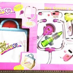 ชุดคุณหมอกระเป๋าหิ้ว+อุปกรณ์ 8 ชิ้นกล่องใหญ่ 55 ซม.(1x3)