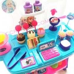 ชุดโต๊ะขายไอติมโฟรเซ่น mini+อุปกรณ์ 34 ชิ้นกล่อง มีเสียง มีไฟ ลิขสิทธิ์แท้ (1x3)