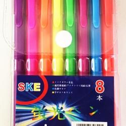 ปากกาเจลสี 8 แท่งแผง