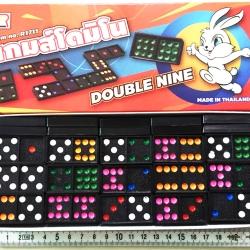 เกมส์โดมิโน่กระต่าย 55 ชิ้นกล่องใหญ่ 22 ซม. (1x3)