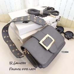 กระเป๋า Style แบรนด์วัสดุหนังพียูคุณภาพพรีเมี่ยมทรง แต่งหัวเข็มขัดทอง