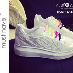 รองเท้าผ้าใบแฟชั่น Elastic shoe clip ผ้าใบไร้เชือกเทรนด์ใหม่มาแรง พื้นบุนุ่มมาก