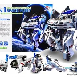 7 In 1 Solar Space Fleet หุ่นยนต์พลังงานแสงอาทิตย์