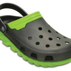 รองเท้า CROCS รุ่น Duet Max สีดำพื้นเขียว