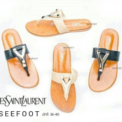 รองเท้าแตะลำลองแบบสวม Style Brand YSL