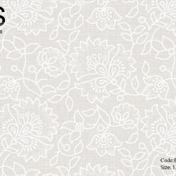 วอลเปเปอร์พื้นสีเทาเทกเจอร์ดอกไม้ใบไม้มีกลิตเตอร์เงิน BES2-B105W