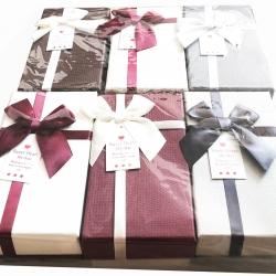 กล่องของขวัญฝาเปิด โบว์ข้าง 8.5x15 ซม.