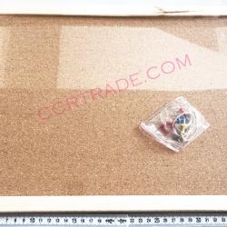 กระดานหมุด ขอบไม้+ชุดแขวน 30x40 ซม.(1x3)