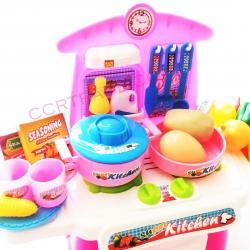 ชุดโต๊ะแม่ครัว mini +อุปกรณ์ 33 ชิ้น มีเสียง มีไฟ กล่อง(1x3)