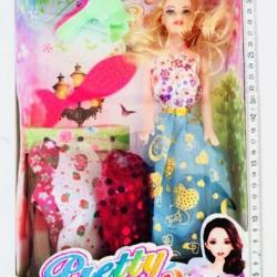 ตุ๊กตาบาร์บี้แต่งตัว+ไดร์เป่าผม 32.5 ซม.(1x3)