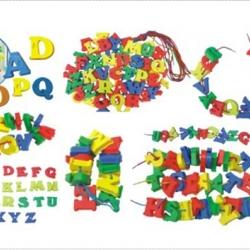ร้อยเชือก ตัวอักษร ABC