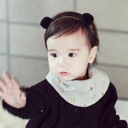 ผ้าคาดผมเด็ก หูมินนี่ สีดำ