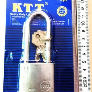 กุญแจเงิน KTT ขนาด 40 mm. คอยาว