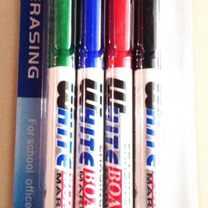 ปากกาไวท์บอร์ด 4 แท่งแผง
