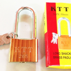 กุญแจทอง KTT ขนาด 50 mm. คอยาว (1x6)