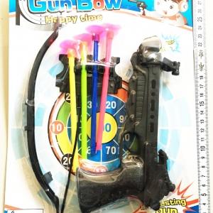 ปืนหัวธนู+ลูกดอกแผง 31 ซม.
