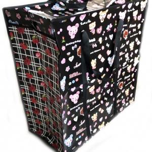 กระเป๋ากระสอบซิปกลาง (คละลาย) 60x65x28 ซม.(1x3)