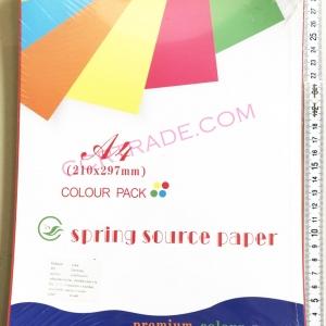กระดาษสี A4 100 แผ่น 29.7×21 ซม.(1x3)