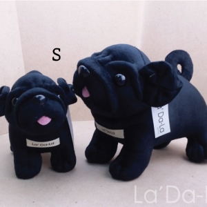 Pug Softy Toy - M BLACK