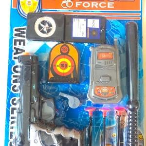 ปืนตำรวจ+อุปกรณ์แผง 43 ซม. (1x3)