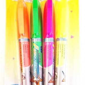 ปากกาไฮไลท์ 4 แท่งแผง