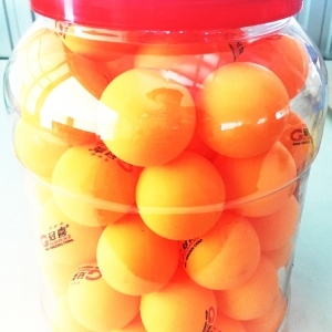 ลูกปิงปองส้ม 40 มิลกระปุกใหญ่ 60 ชิ้น