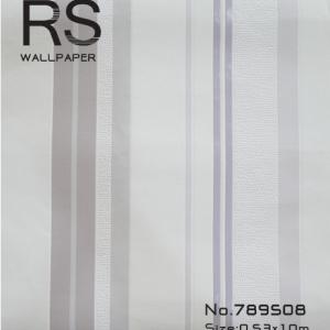 วอลเปเปอร์ลายทางไสตล์ยุโรปมีแถบสี ม่วง ม่วงอ่อน เทาและขาว รหัส: 789508