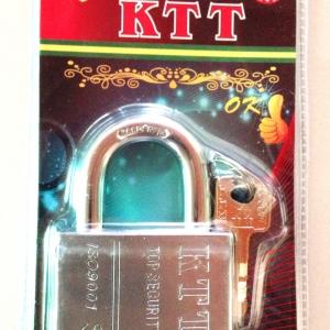 กุญแจเหล็กกล้า KTT ขนาด 60 mm. คอสั้น