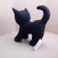 ตุ๊กตาแมวยืน Kitten Cat Softy Toy - BLACK thumbnail 3