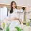 Korea Smart White Long Blouse With Brown Belt by Seoul Secret thumbnail 4