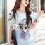 Korea Chic Feminine Printed Dress by Seoul Secret thumbnail 3